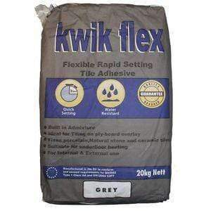 Grey Rapid Set Flexible Wall & Floor Tile Adhesive 20kg