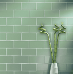 Sage Green Gloss Smooth 20 x 10 Metro Wall Tiles