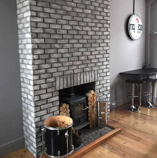Salt Washed Grey Brick Slips