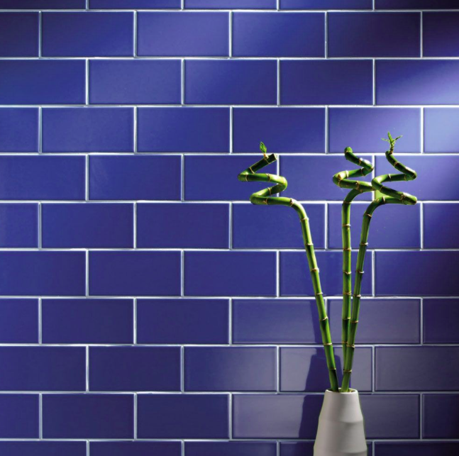 Satin Blue Metro Wall Tile