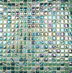 Shiny Green Glass Mosaic Tiles