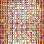Shiny Red Glass Mosaic Tiles