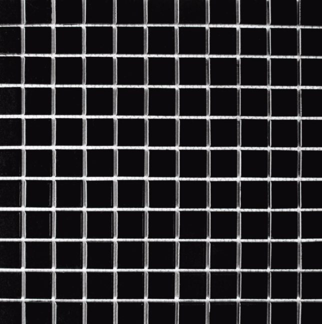 Simples Matt Black Square Mosaic Tiles
