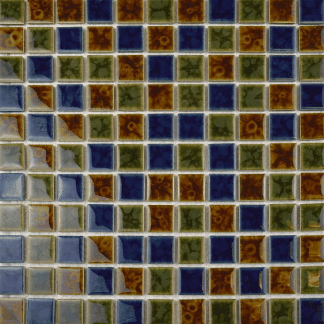 Simples Multi-Coloured Square Mosaic Tiles
