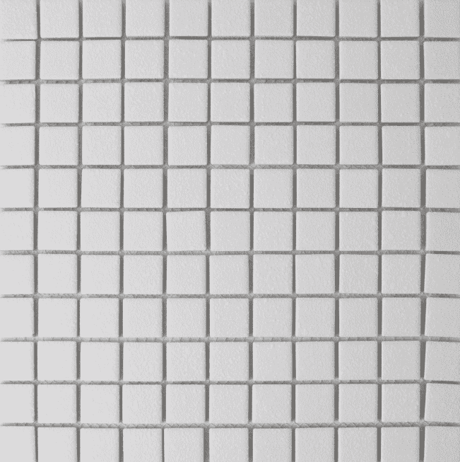 Simples White Textured Square Mosaic Tiles