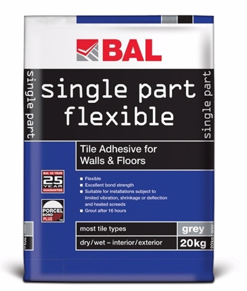 Single Part Flexible Grey Adhesive - 20kg