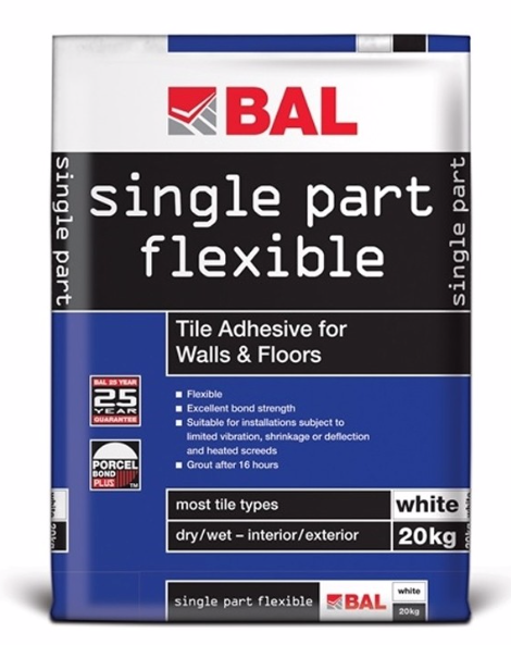Single Part Flexible White Adhesive - 20kg