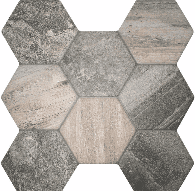 Slate Effect Hexagon Tiles