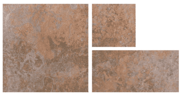 Slate Effect Rustic Copper Mixed Exterior Tiles
