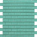Small Brick Sea Blue Glass Mosaic Tiles