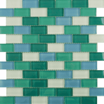 Small Sea Mix Glass Mosaic Tiles