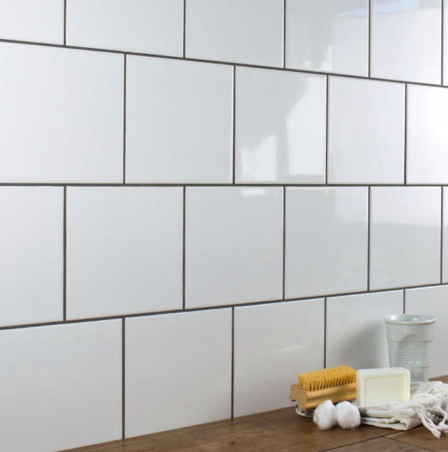 Smooth White Gloss Square Wall Tiles