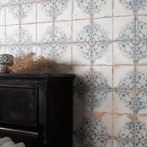 Snowflake Antique Victorian Wall And Floor Tiles