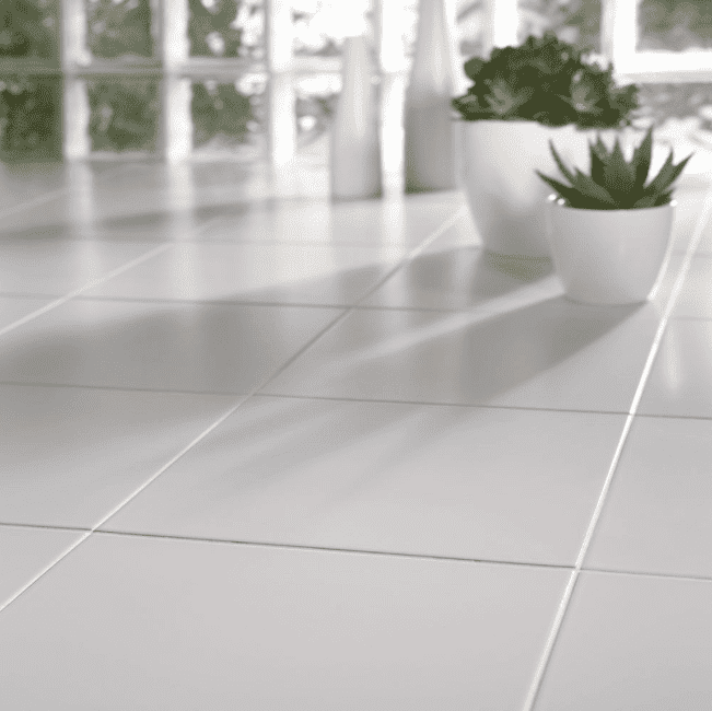 Square White Anti-Slip Floor Tile