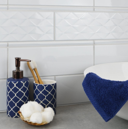Statement Silver Grey Metro Tiles