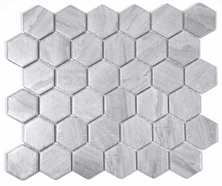 Stone Effect Hexagon Mosaic Tiles
