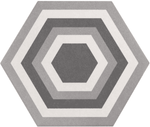Stone Effect Pattern Hexagon Tiles