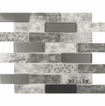 Stylo Brick Effect Grey Mosaic Tiles
