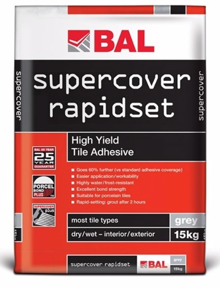 Super Cover Flexible Rapid Set Adhesive 15kg