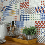 Take Two Colourful Encaustic Effect Brick Wall Tile