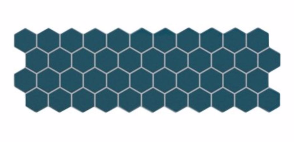 Teal Hex Mosaic Panel Tile