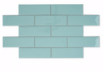 Teal Soft Glazed Metro Tiles
