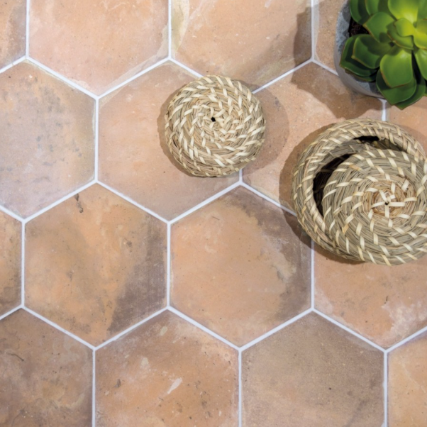 Terracotta Effect Hexagon Tiles
