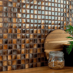 Textile Shinning Copper Mosaic Tiles