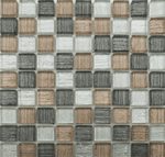 Textile Shinning Mixed Mosaic Tiles