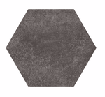 Textured Black Stone Hexagon Tiles
