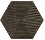 Textured Grey Opal Hexagon Tiles
