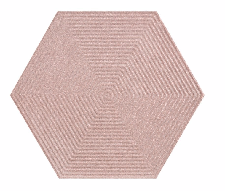 Textured Pink Opal Hexagon Tiles