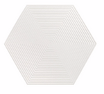 Textured White Opal Hexagon Tiles