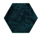 Tourmaline Blue Hexagon Tiles