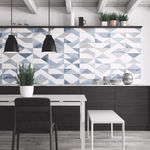 Unique Harle Blue Patterned Wall Tile