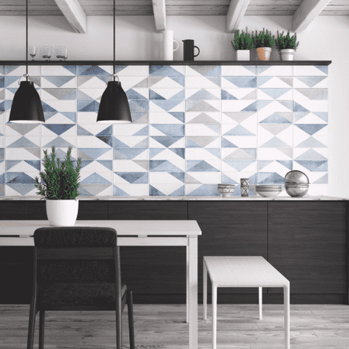 Blue Patterned Tile