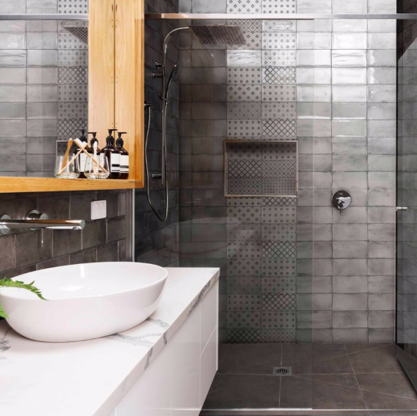 Urban Rustic Grey Flat Metro Tiles