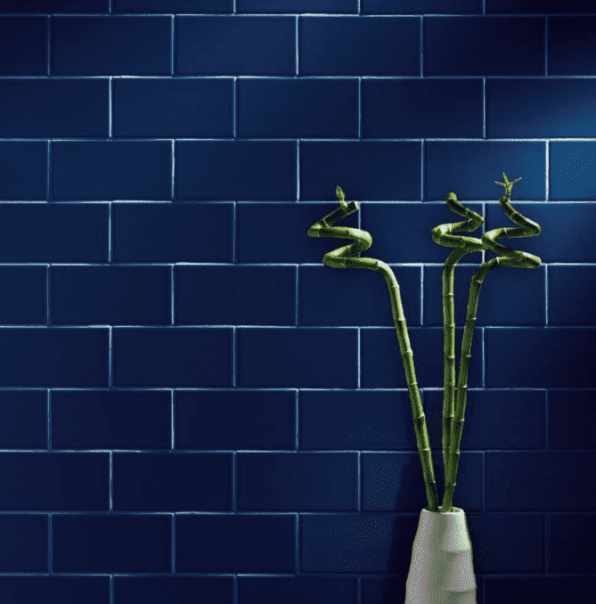 Vibrant Blue Smooth 20 x 10 Metro Wall Tiles
