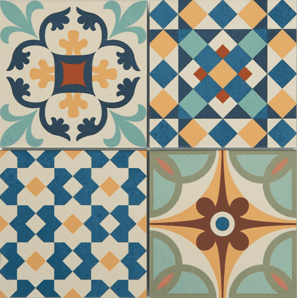 Vibrant Retro Pattern Tile
