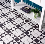 Victorian Black And White Encaustic Effect Tiles