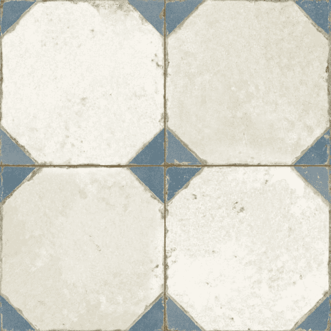 Victorian Joust Blue Patterned Tiles