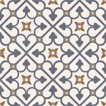 Vintage Blue Pattern London Encaustic Effect Tile