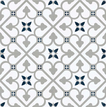 Vintage Grey Pattern London Encaustic Effect Tile