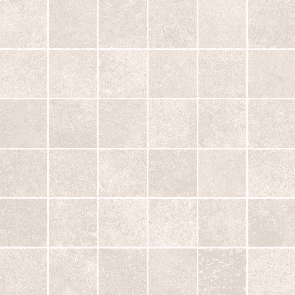 Visual Off White Concrete Effect Mosaic Tile