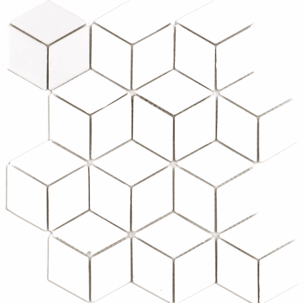 white-cube-effect-gloss-hexagon-mosaic-tiles