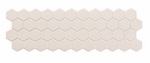 White Hex Mosaic Panel Tile