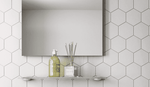 White Matt Mini Hexagon Wall Tiles