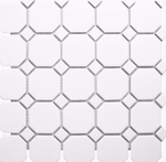 White Octagon Mosaic Tiles