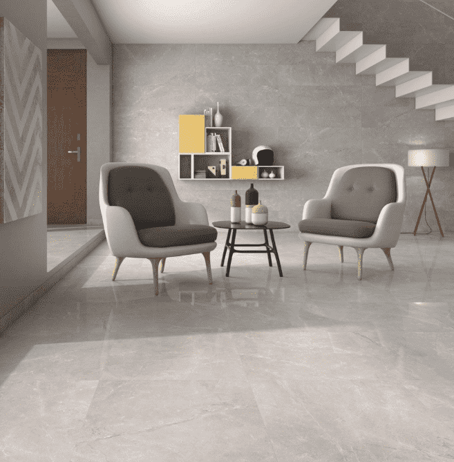 Xavier Polished Grey 59 x 59 Marble Effect Tiles