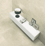 Xavier Polished Cream 75 x 75 Marble Effect Tiles
